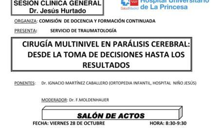 Sesión Clínica 28 de Octubre – Cirugía Multinivel en parálisis celebral