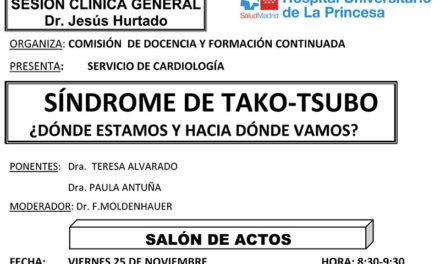 Sesión Clínica 25 de Noviembre – Síndrome de Tako-Tsubo