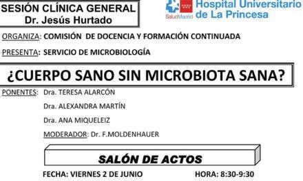 Sesión Clínica 2 de Junio – ¿Cuerpo sano sin microbiota sana?
