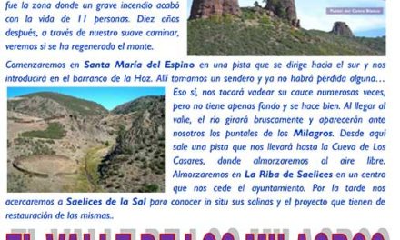 Excursión Senderismo – Primavera en Valle de los Milagros – 3 Junio