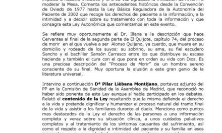 RESUMEN MESA REDONDA DERECHOS Y GARANTIAS EN EL PROCESO DE MORIR