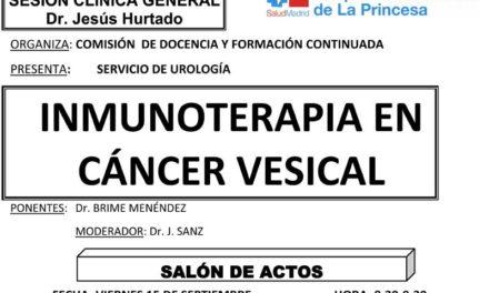 Sesión Clínica 15 de Septiembre – Inmunoterapia en cáncer vesical