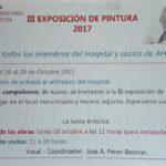 III. Exposición de Pintura 2017 – Ahupa, Hospital Universitario de la Princesa