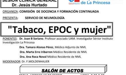 Sesión Clínica 19 de Enero – Tabaco, EPOC y mujer