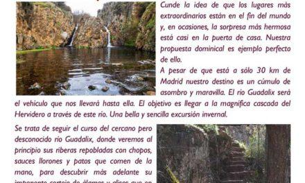 Salida Senderista – 28 de Enero – Río Guadalix y la cascada del hervidero