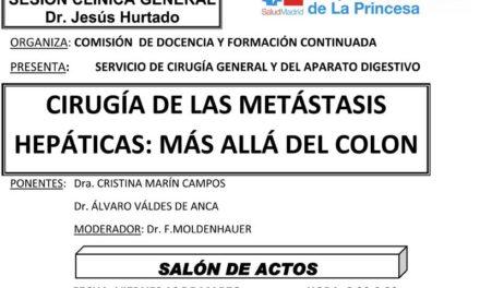 Sesión Clínica 16 de Marzo – Cirugía de las metástasis hepáticas: más allá del colon