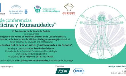 Conferencia Medicina y Humanidades de Asomega – Retos actuales del cáncer en niños y adolescentes en España