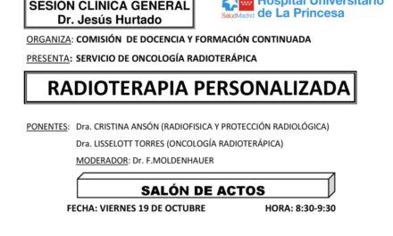 Sesión Clínica 19 de Octubre – Radioterapia personalizada
