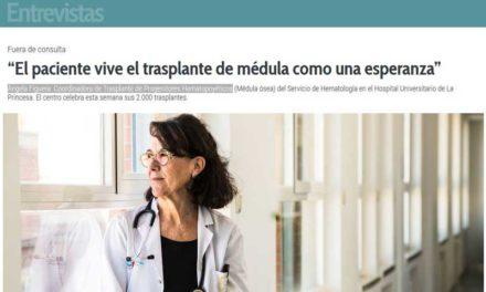 Entrevista – Ángela Figuera. Coordinadora de Trasplante de Progenitores Hematopoyéticos.