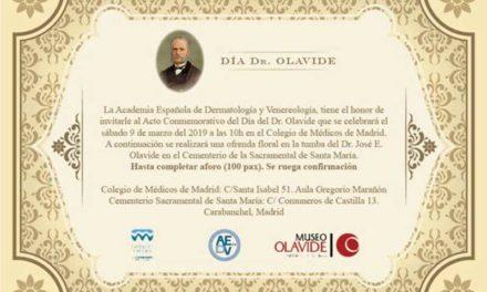 Invitación acto día Dr. Olavide – 9 de Marzo de 2019