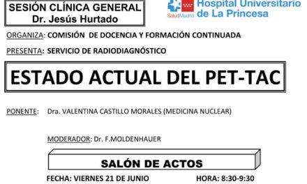 Sesión Clínica 21 de junio – Estado actual del PET-TAC