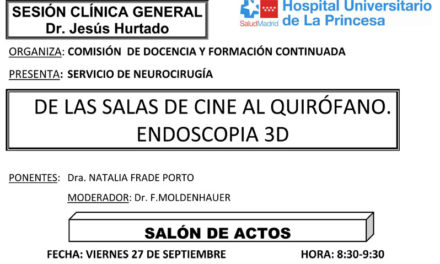 Sesión Clínica 27 de septiembre – De las salas de cine al quirófano, endoscopia 3D