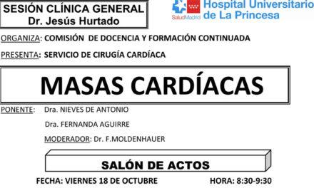 Sesión Clínica 18 de octubre – Masas Cardíacas