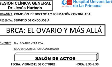 Sesión Clínica 11 de octubre – BRCA: El ovario y más allá