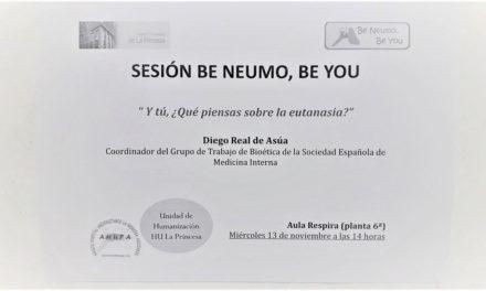 Sesión Clínica 13 de noviembre Be Neumo – Y tú, ¿qué piensas sobre la eutanasia?