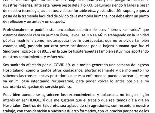 Reflexión de Carlos Valiente.