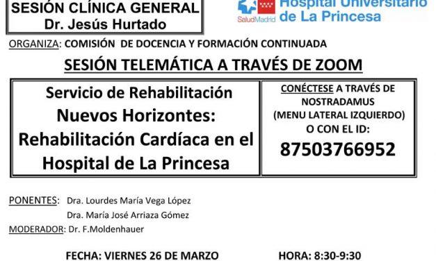 Sesión Clínica 26 de marzo – Rehabilitación Cardiaca en el Hospital