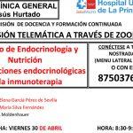 Sesión Clínica 30 de abril – Complicaciones endocrinológicas de la inmunoterapia