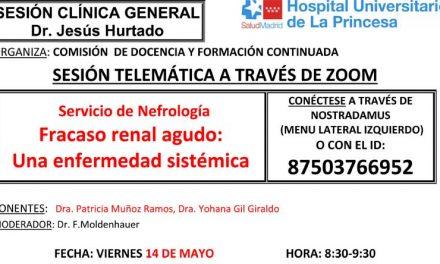 Sesión Clínica 14 de mayo – Fracaso renal agudo: Una enfermedad sistémica