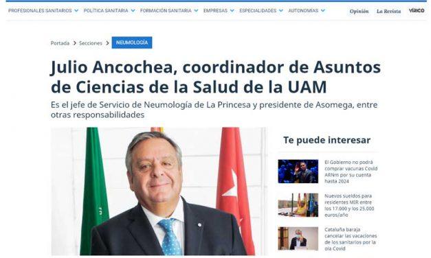 Nuestro amigo y mecenas Julio Ancochea se reafirma en la UAM como Coordinador de Asuntos de Ciencias de la Salud