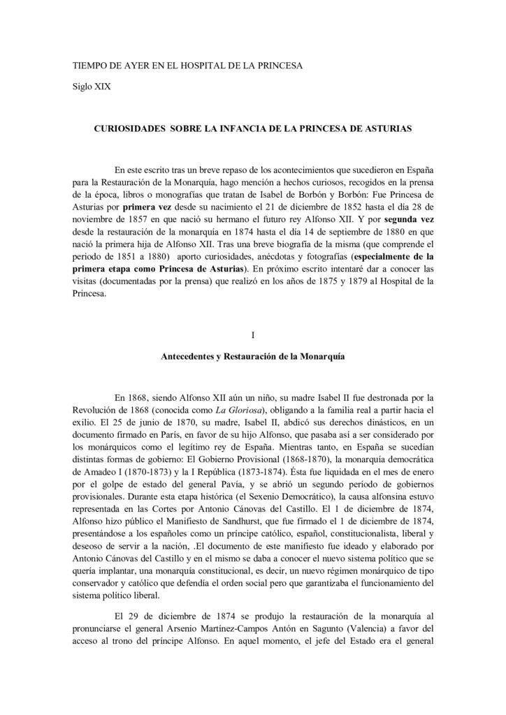 CURIOSIDADES SOBRE LA INFANCIA DE LA PRINCESA DE ASTURIAS