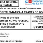 Sesión Clínica 24 de septiembre – Atrapamiento del nervio pudendo. Diagnósitco y tratamiento quirúrgico