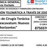 Sesión Clínica 15 de octubre – Servicio de Cirugía Torácica – Pectus excavatum: Nuevos horizontes
